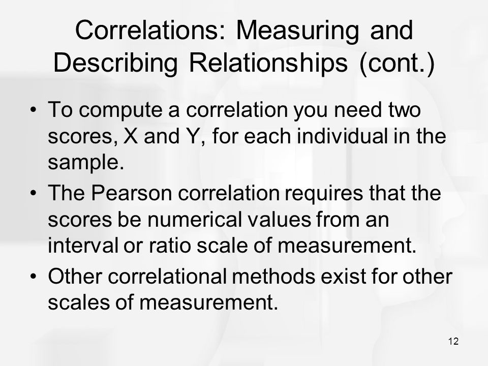 Correlations: Measuring and Describing Relationships (cont.)