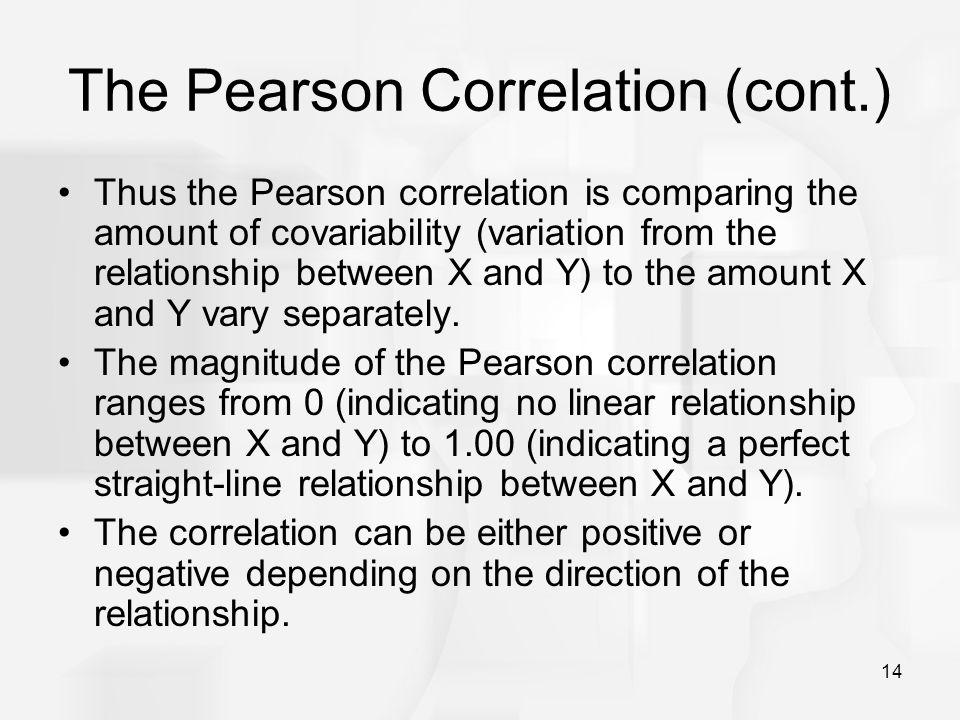 The Pearson Correlation (cont.)