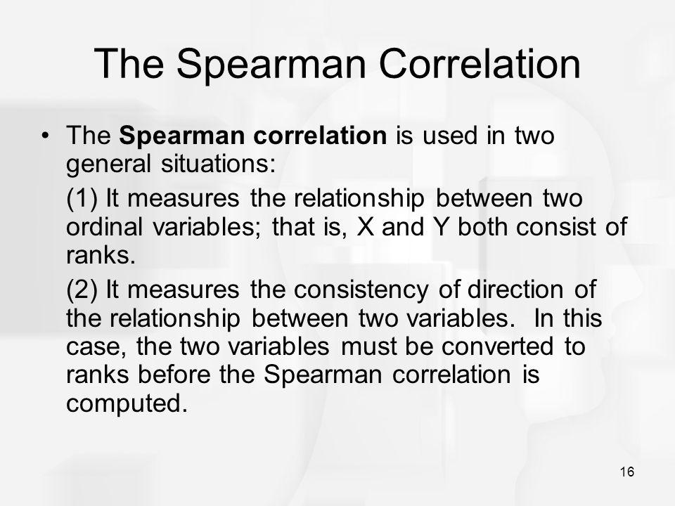The Spearman Correlation