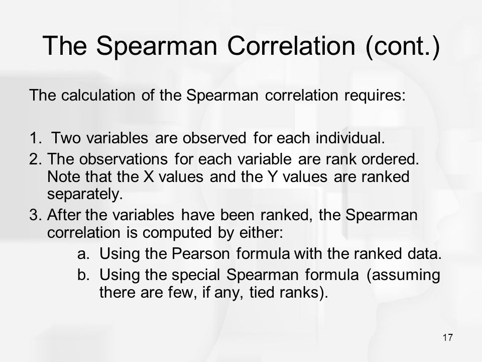 The Spearman Correlation (cont.)