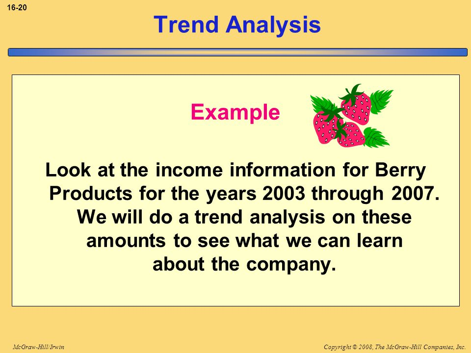 Trend Analysis Example