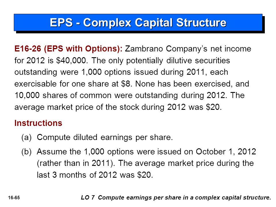 EPS - Complex Capital Structure