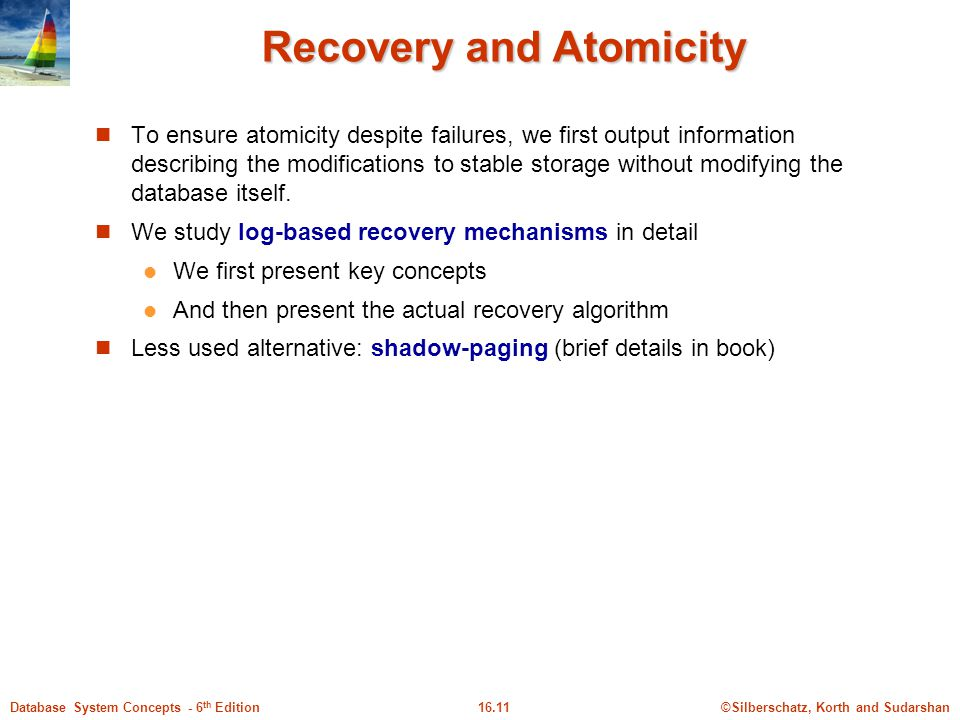 Recovery and Atomicity