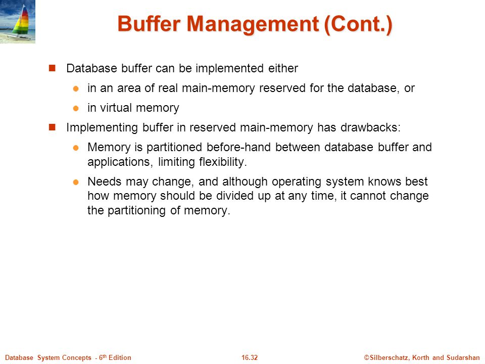 Buffer Management (Cont.)