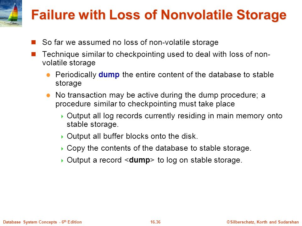 Failure with Loss of Nonvolatile Storage
