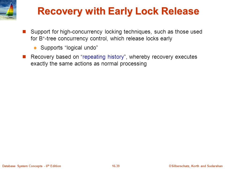 Recovery with Early Lock Release