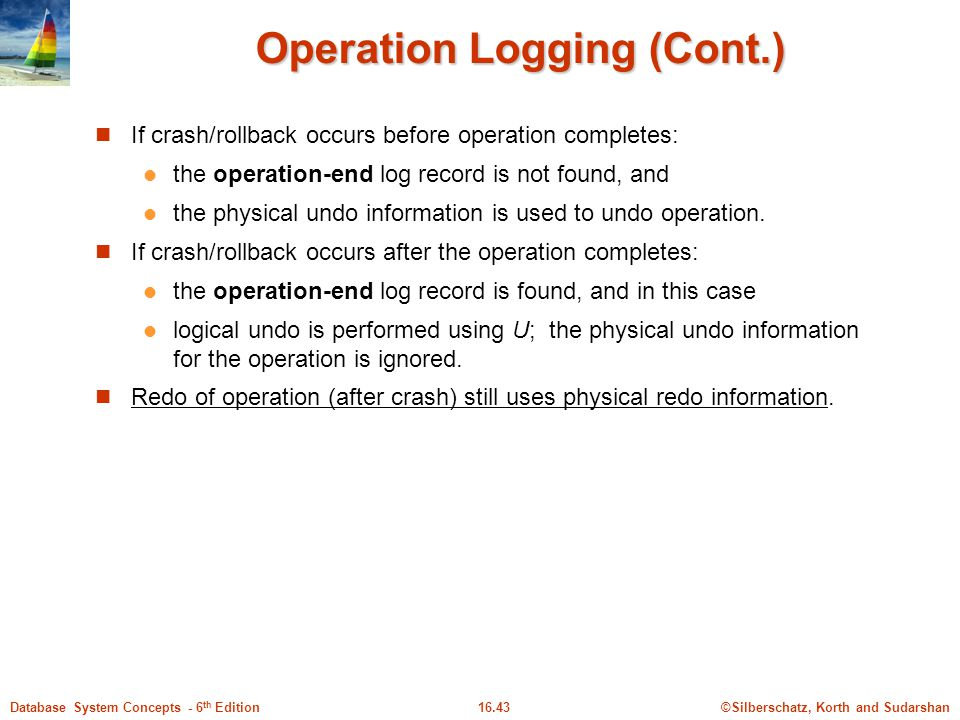 Operation Logging (Cont.)
