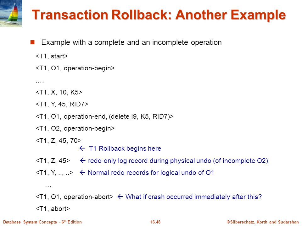 Transaction Rollback: Another Example