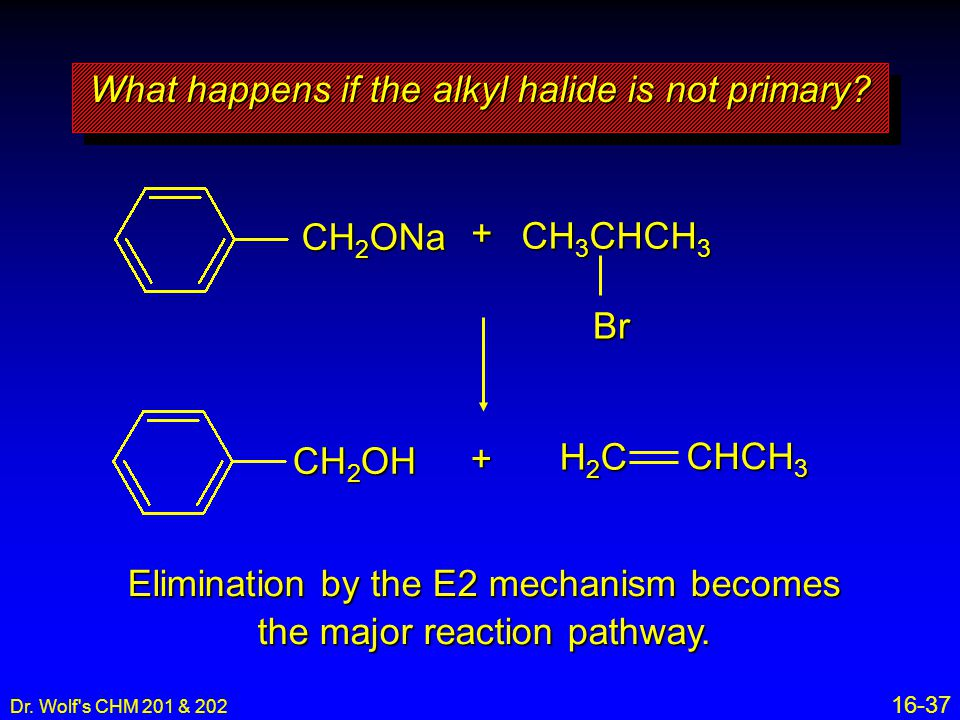 What happens if the alkyl halide is not primary