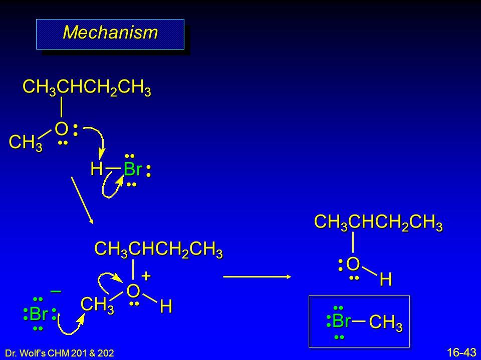 Mechanism CH3CHCH2CH3 O CH3 H Br CH3CHCH2CH3 O H CH3CHCH2CH3 O CH3 H +