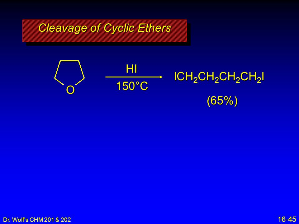 Cleavage of Cyclic Ethers