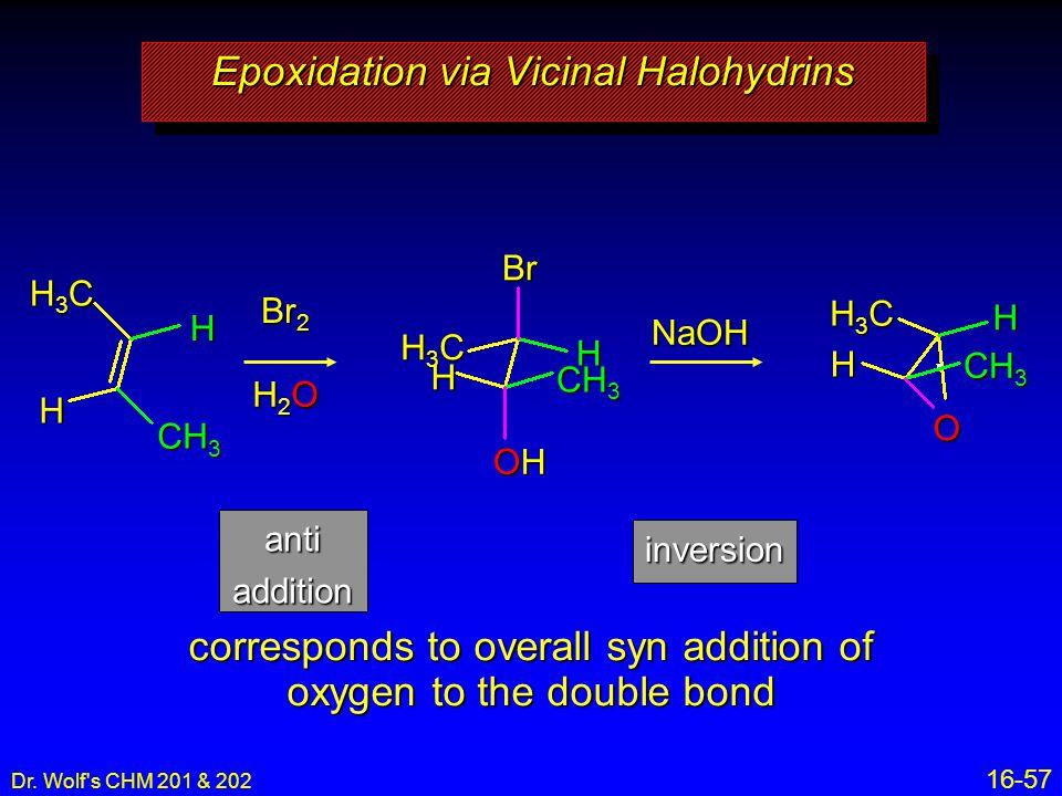 Epoxidation via Vicinal Halohydrins