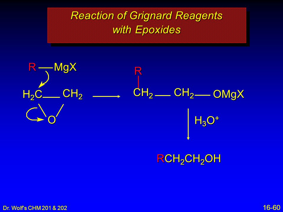 Reaction of Grignard Reagents with Epoxides