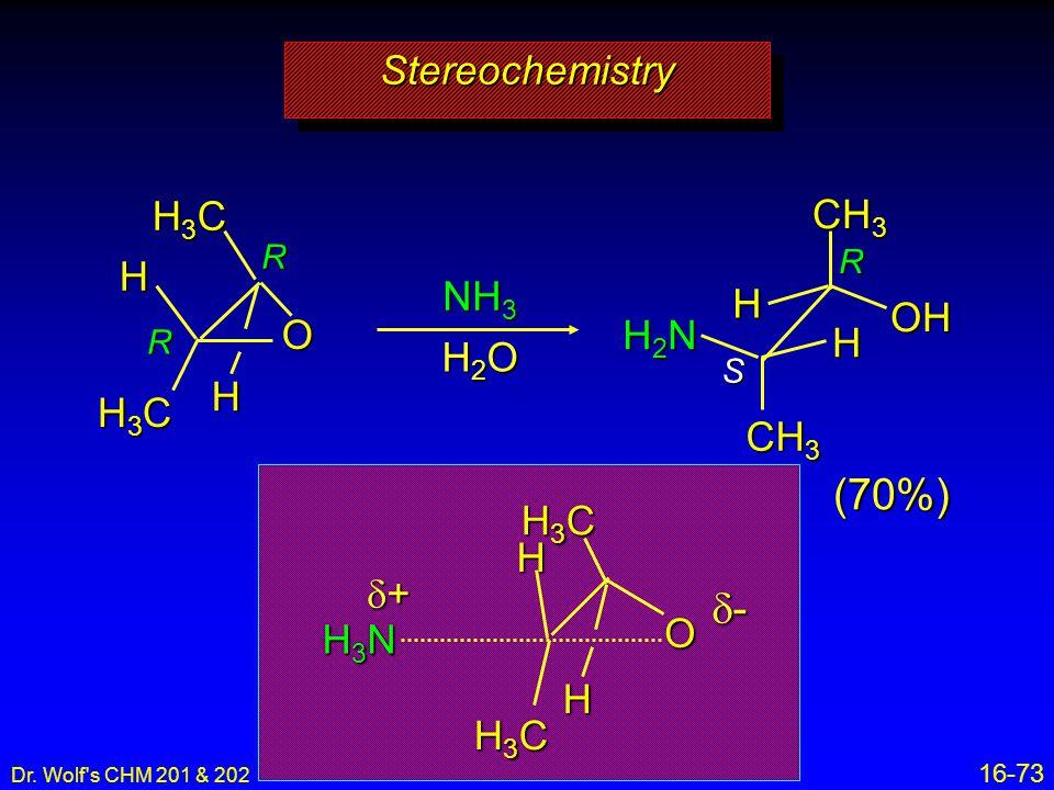 (70%) d- Stereochemistry H3C CH3 H NH3 H OH O H2N H H2O H H3C CH3 H3C