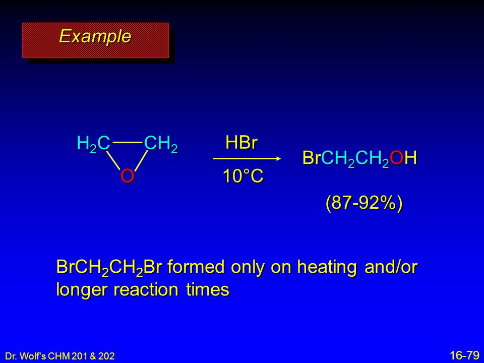 BrCH2CH2Br formed only on heating and/or longer reaction times