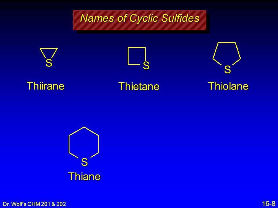 Names of Cyclic Sulfides