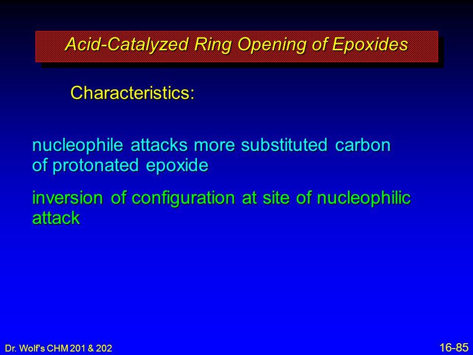 Acid-Catalyzed Ring Opening of Epoxides