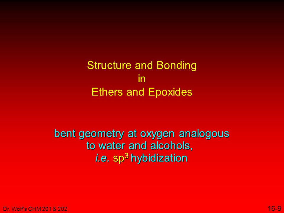 Structure and Bonding in Ethers and Epoxides