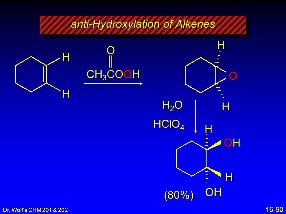 anti-Hydroxylation of Alkenes