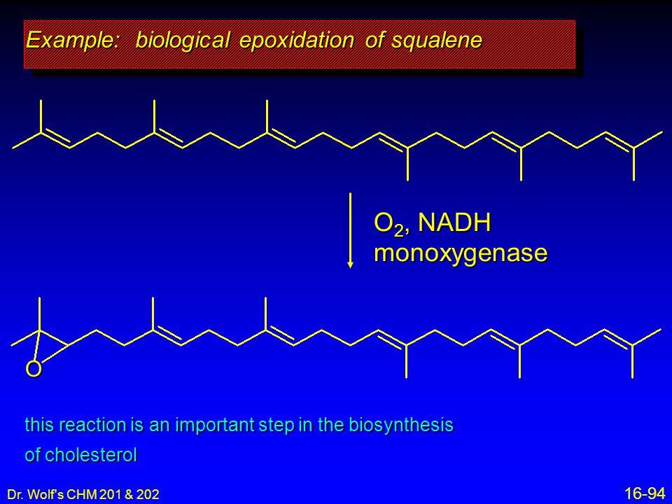 Example: biological epoxidation of squalene