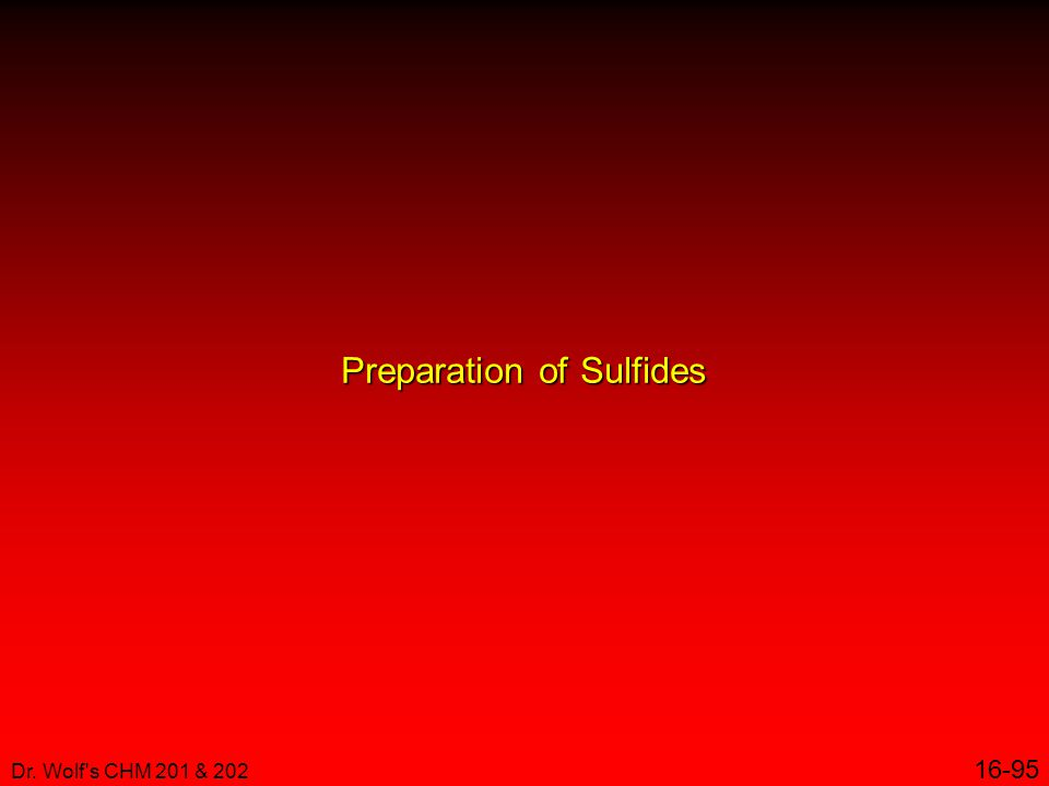 Preparation of Sulfides