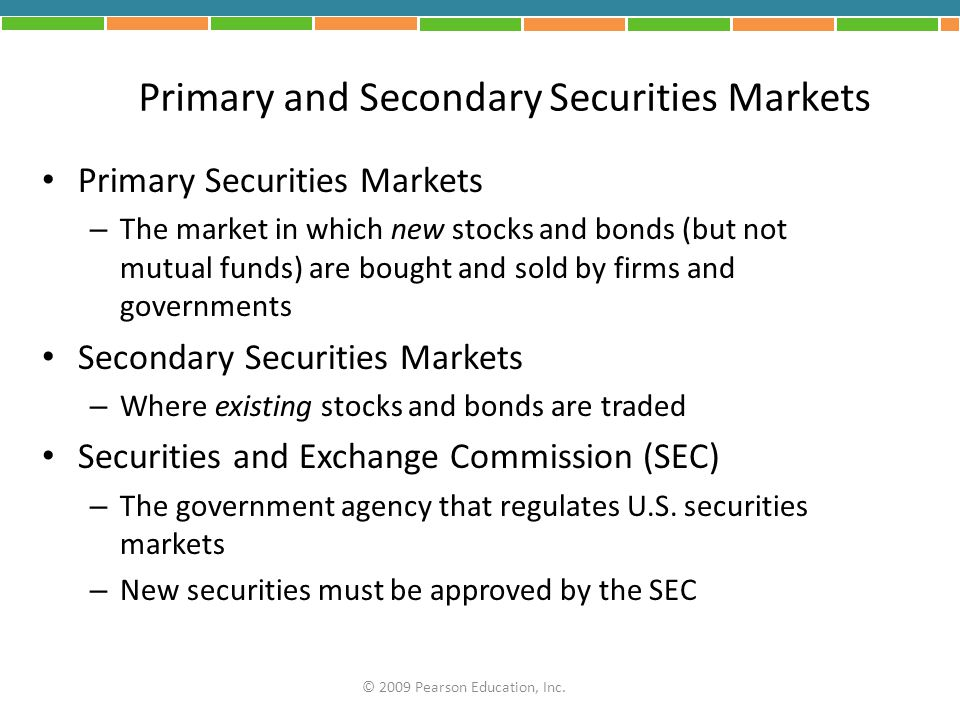 Primary and Secondary Securities Markets