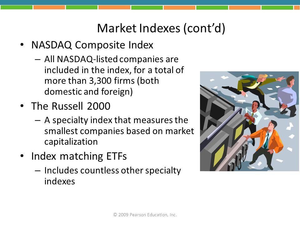Market Indexes (cont'd)