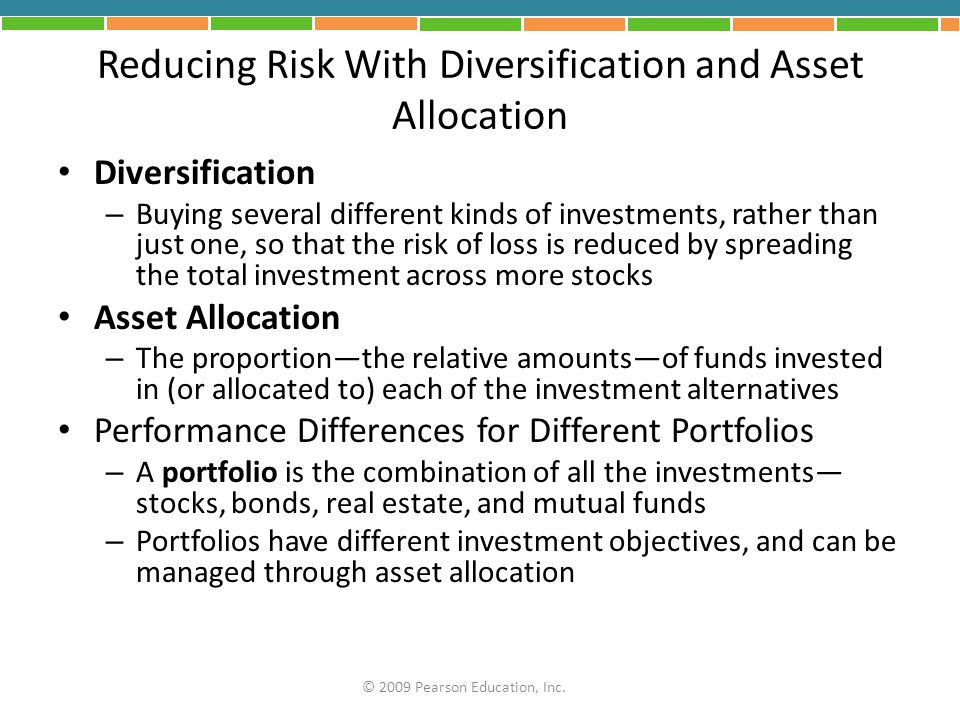 Reducing Risk With Diversification and Asset Allocation
