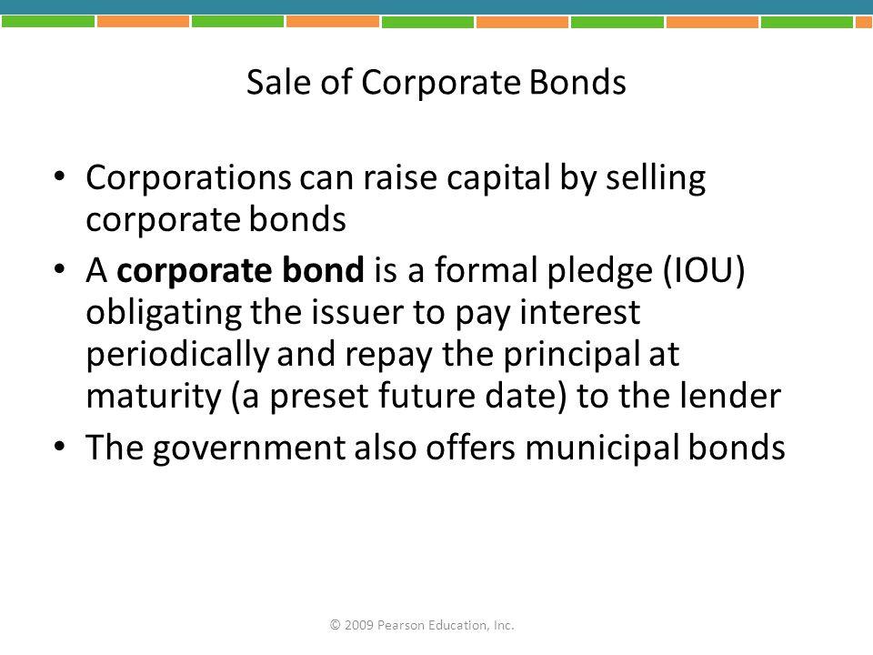 Sale of Corporate Bonds