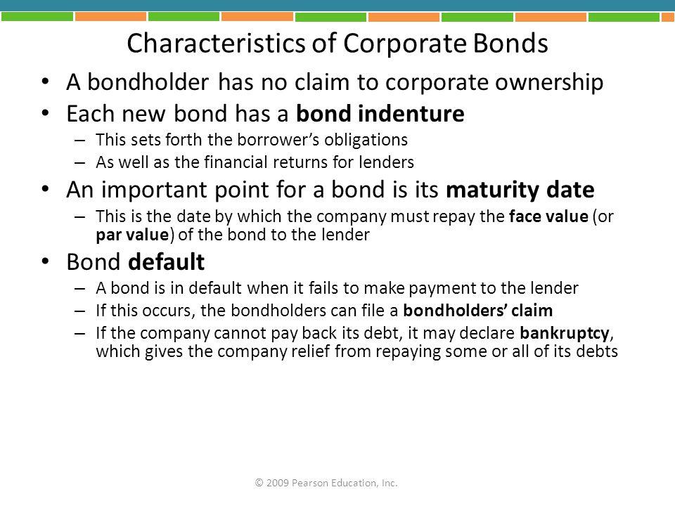 Characteristics of Corporate Bonds