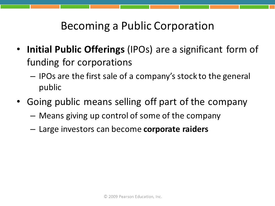 Becoming a Public Corporation