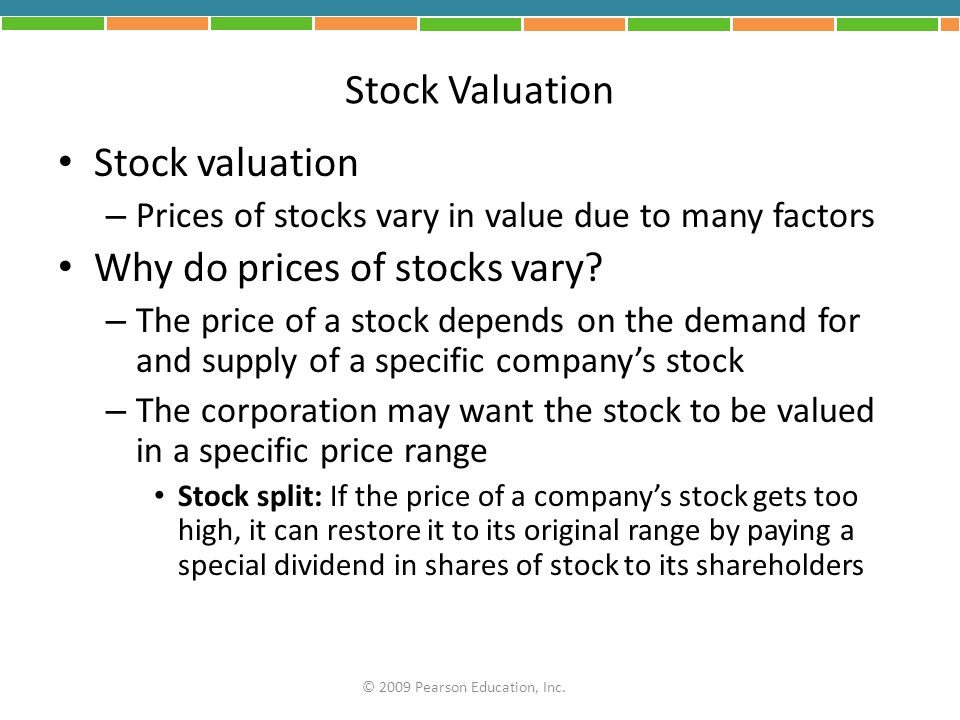 Why do prices of stocks vary