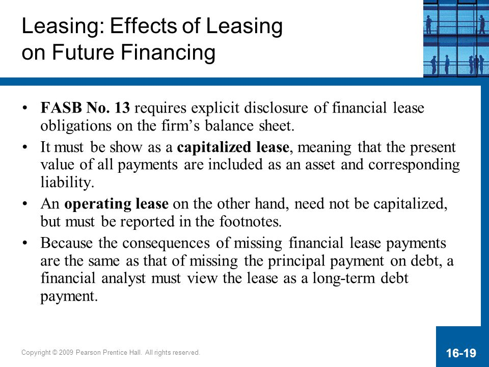 Leasing: Effects of Leasing on Future Financing
