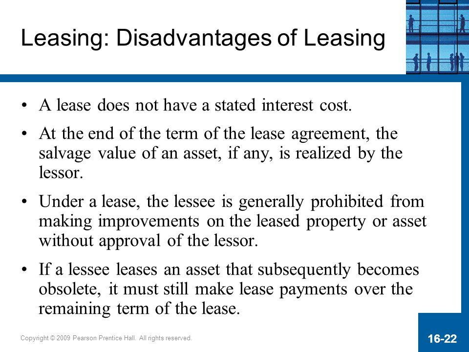 Leasing: Disadvantages of Leasing