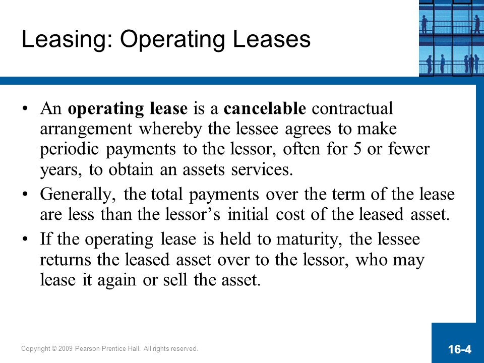 Leasing: Operating Leases