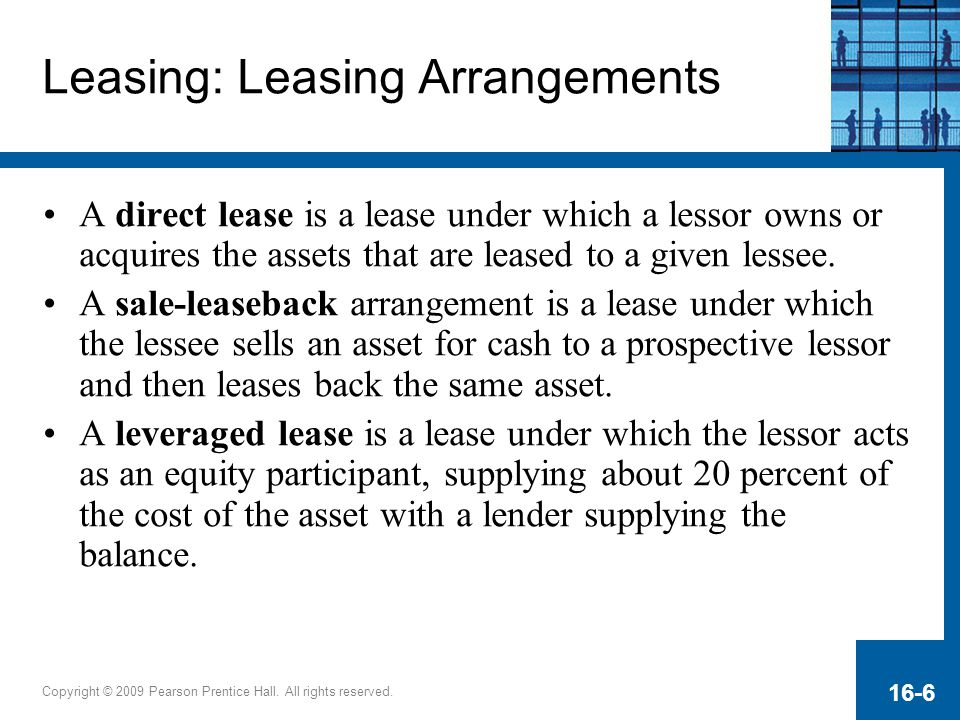 Leasing: Leasing Arrangements
