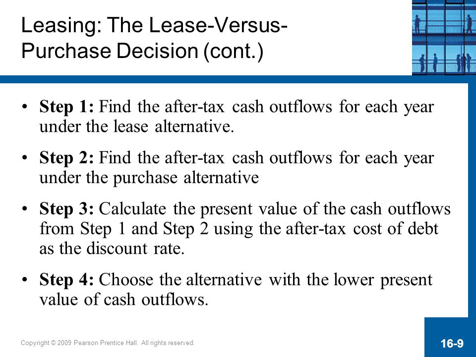 Leasing: The Lease-Versus- Purchase Decision (cont.)