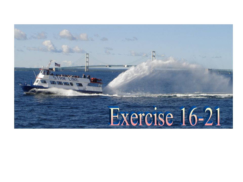 Exercise 16-21