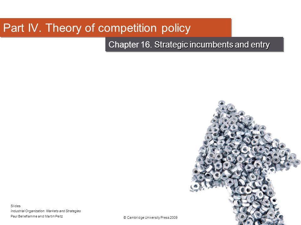 Part IV. Theory of competition policy