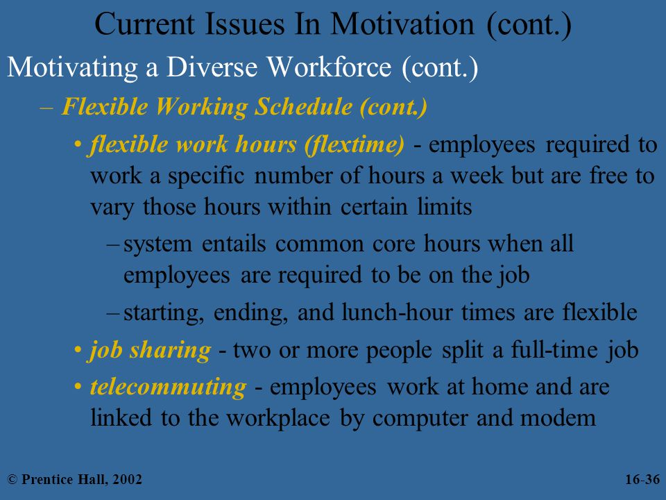 Current Issues In Motivation (cont.)