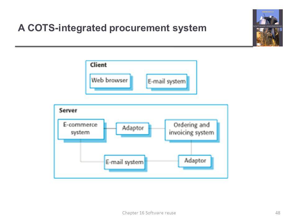 A COTS-integrated procurement system