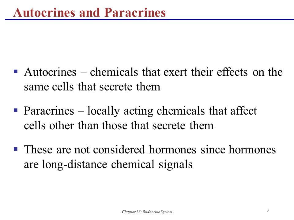 Autocrines and Paracrines