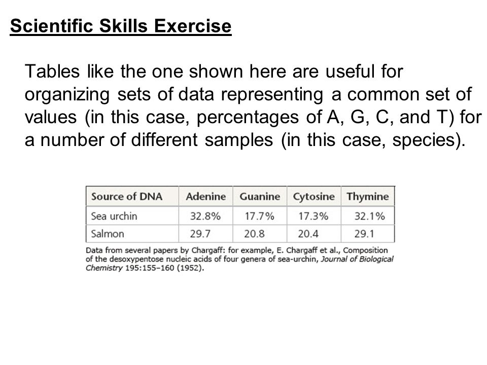 Scientific Skills Exercise