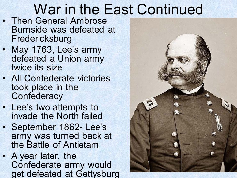 War in the East Continued