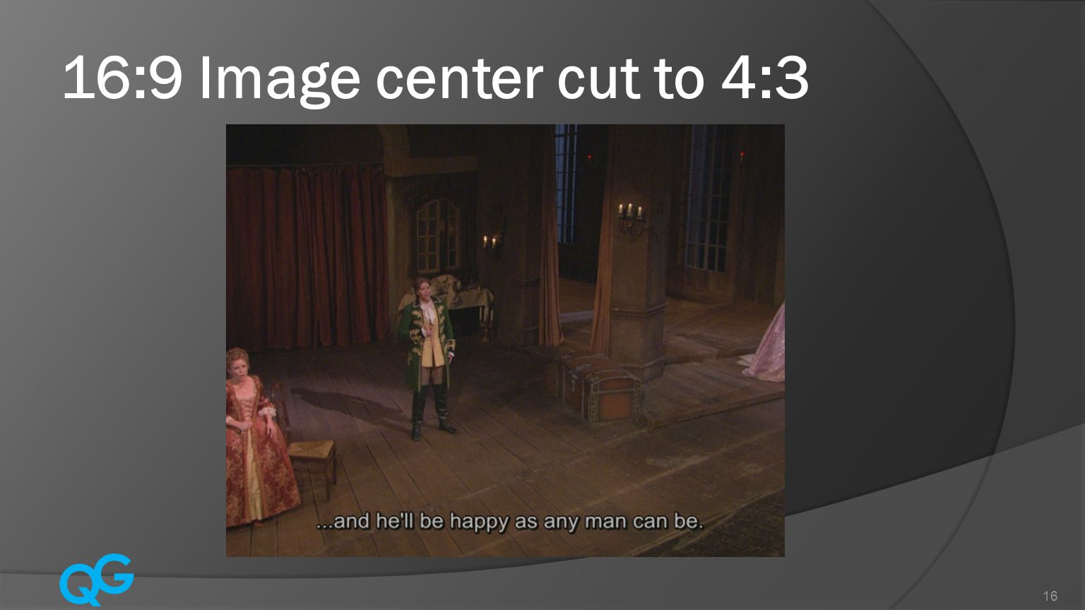 16:9 Image center cut to 4:3