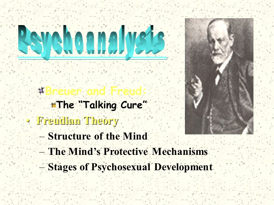 Psychoanalysis Breuer and Freud: Freudian Theory Structure of the Mind