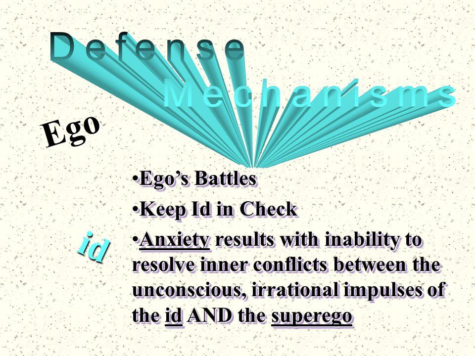Ego id Defense Mechanisms Ego's Battles Keep Id in Check