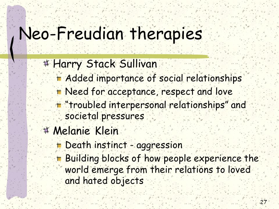 Neo-Freudian therapies