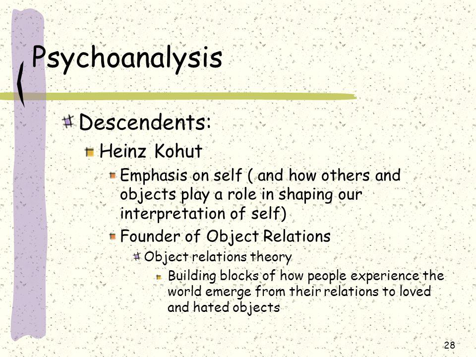 Psychoanalysis Descendents: Heinz Kohut