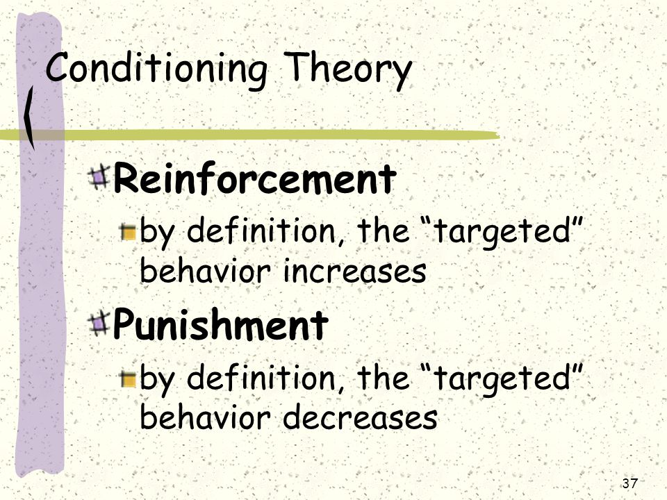 Reinforcement Punishment Conditioning Theory